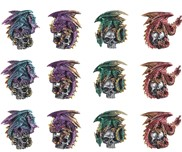 View Magnets -Dragon & Skull---