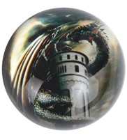 View Paperweight -Dragon Gold