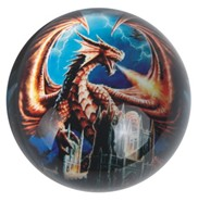 View Paperweight -Dragon Red