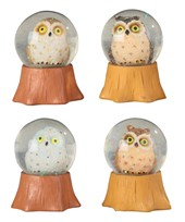 View Owl Snow Globe Set