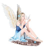 View Blue Fairy with Bird