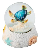 View Blue Sea Turtle Snow Globe