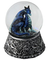 View Blue Dragon Snow Globe