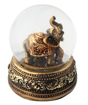 View Golden Thai Elephant Snow Globe