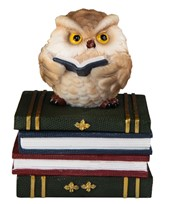 View Owl on Books/Trinket Box Brown