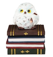 View Owl on Books/Trinket Box White