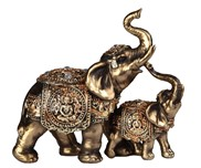 View Golden Thai Elephant with Cub