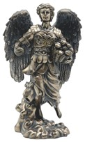 "View 12"" Bronze Archangel Barachiel---"