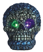 View Blue Skull with LED