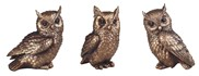 View Mini Bronze Owl Set