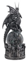 View Snow Globe Dragon with Castle Base
