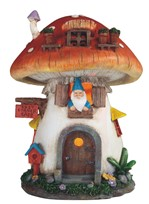 View Solar House with Mushroom Roof and Gnome