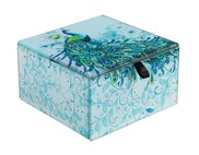 "View 4"" Square Butterfly Trinket Box"