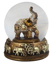"View 3 1/4"" Thai Elephant Snow Globe 3 1/4""H"