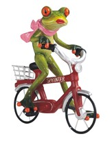 "View 6 3/4"" Frog on a Red Bike"