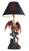 "View 24"" Red Dragon Lamp"