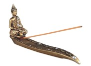 "View 10"" Golden Thai Buddha Incense Burner"