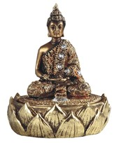 "View 4 3/4"" Golden Thai Buddha Trinket Box"