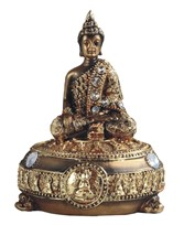 "View 5"" Golden Thai Buddha Trinket Box"