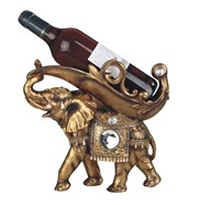 "View 11"" Golden Thai Elephant Wine Holder"