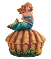 "View 5"" Turquoise Mermaid Trinket Box"