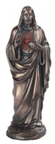 "View 5"" Bronze Sacred Heart of Jesus"