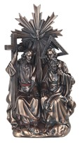 "View 12"" Bronze Holy Trinity"