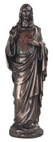 "View 16"" Bronze Sacred Heart of Jesus"