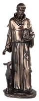 "View 16"" Bronze St. Francis"