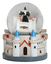 "View 4"" Castle Snow Globe with Wizard"