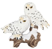 "View 6"" Snow Owl Couple"