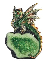 "View 4"" Green Dragon on Crystal"
