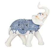 "View 12 1/2"" Blue/White Thai Elephant"