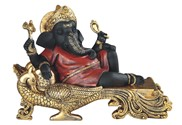 "View 8 1/4"" Red/Black Ganesha"