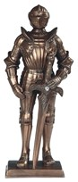 "View 13"" Bronze Medieval Knight with Sword"
