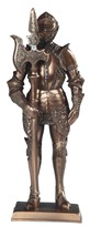 "View 7"" Bronze Medieval Knight with Long Axe"