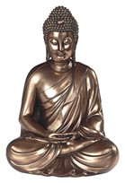 "View 12"" Bronze Buddha Meditation"