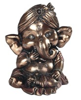"View 4 1/4"" Bronze Ganesha"