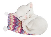 View White Cat Woven Pillow