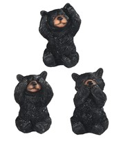 "View 3 1/2"" Black Bear Set"