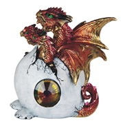 View 3-Head Red Dragon in Egg