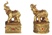 "View 4"" Golden Thai Elephant Trinket Box Set"