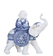 "View 8 1/2"" Monk on Elephant"