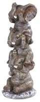 "View 7 3/4"" Stacked Hear/See/Speak no Evil Elephants"