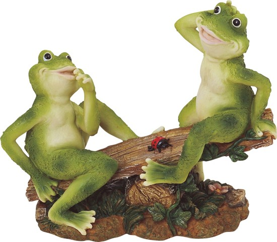 frog couple on seesaw