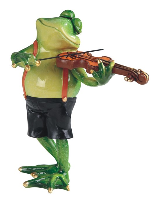 6 1 4 Quot Frog Playing Violin Gsc Imports