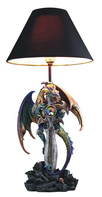 24 u0026quot  purple  green dragon lamp