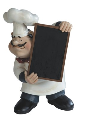 Chef with Chalkboard | GSC Imports