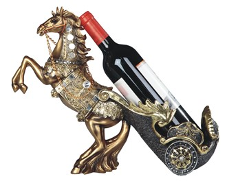 Horse Wine Holder in Bronze | GSC Imports