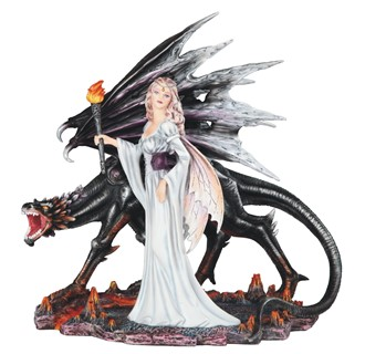 "14"" Fairy with Black Dragon 